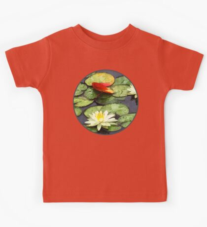 Water Lily Pond in Autumn Kids Tee