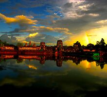 Angkor Wat by the WORLD in a  FRAME