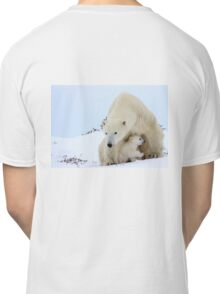 Mother plar bear watching over potential hazards Classic T-Shirt