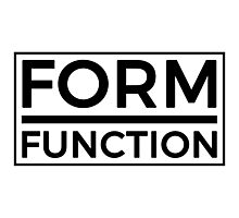 Form Over Function  Photographic Print