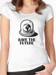 World Snow Globe - Save the Future Women's Fitted Scoop T-Shirt