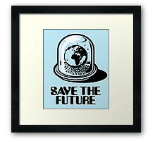 World Snow Globe - Save the Future Framed Print