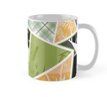 Patchwork seamless pattern checkered ornament retro design background Mug