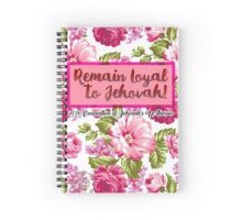 Remain Loyal to Jehovah! 2016 Convention of Jehovah's Witnesses (Floral Pink) Spiral Notebook