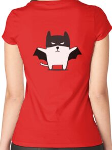 Batman Cat Women's Fitted Scoop T-Shirt