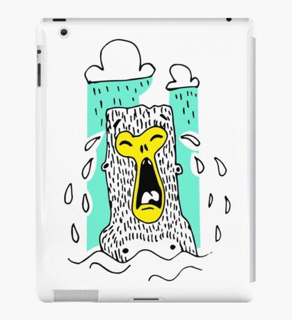 Crying monkey iPad Case/Skin