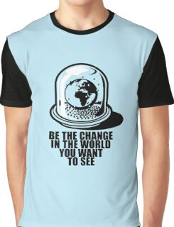 World Snow Globe - Gandhi Philosophy Graphic T-Shirt