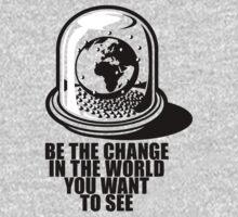 World Snow Globe - Gandhi Philosophy One Piece - Long Sleeve
