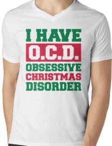 Obsessive Christmas Disorder Funny Quote Mens V-Neck T-Shirt