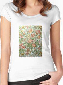 Vintage Georgian Wallpaper Women's Fitted Scoop T-Shirt