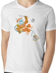 Space Yeti Mens V-Neck T-Shirt
