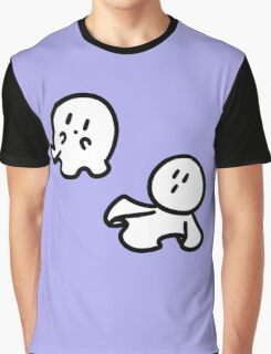 Cute Tiny Ghosts Graphic T-Shirt