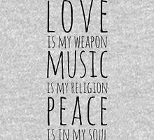 Love, Music & Peace Unisex T-Shirt