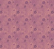 Purple Flowers On Grunge Pink by pjwuebker