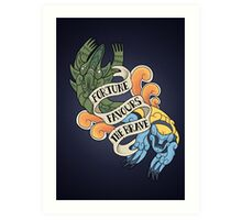 fortune favours the brave Art Print