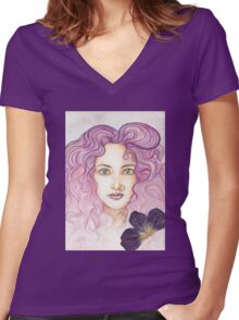 Spring Bloom Women's Fitted V-Neck T-Shirt