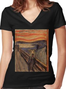 The Woof Women's Fitted V-Neck T-Shirt