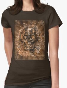 floral skull 3 Womens Fitted T-Shirt