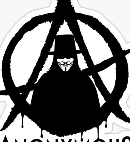 Anonymous Vendetta Sticker