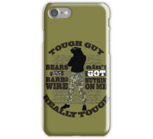 Tough guy macho man overkill bears barbed wire iPhone Case/Skin