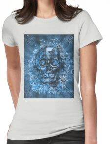 floral skull 4 Womens Fitted T-Shirt