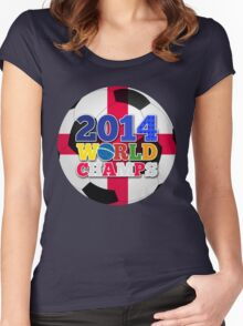 2014 World Champs Ball - England Women's Fitted Scoop T-Shirt