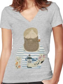 a fine rum Women's Fitted V-Neck T-Shirt