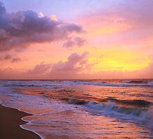 Sunrise Clouds over Atlantic Surf, Cape Hatteras National Seashore by Roupen  Baker