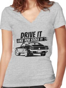 Drive it - fastback Women's Fitted V-Neck T-Shirt