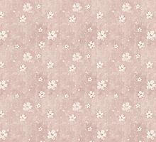 Grungy Flowers Pattern On Faded Pink by pjwuebker