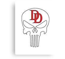 Punisher - Daredevil Canvas Print