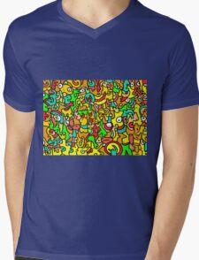 """""""BOINGO"""" animal doodle colour cartoon Mens V-Neck T-Shirt"""