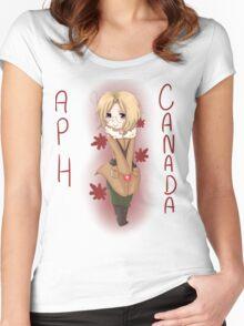 Canada-shirt+Sticker  Women's Fitted Scoop T-Shirt