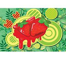 Cool Strawberry Graffiti Street Art Photographic Print