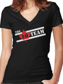 The EH Team Women's Fitted V-Neck T-Shirt