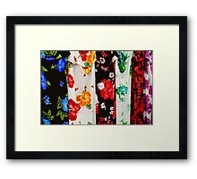 Colorful Fabric Framed Print