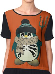 Harold The Penguin Chiffon Top