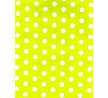 polka dots in lime Photographic Print