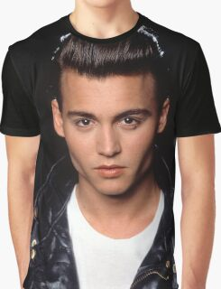 Young Johnny Depp Graphic T-Shirt