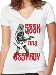 The Hetfield Women's Fitted V-Neck T-Shirt