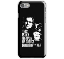 Quentin Tarantino - Weapon of Choice iPhone Case/Skin