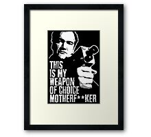Quentin Tarantino - Weapon of Choice Framed Print