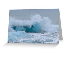 Ice on the beach Greeting Card