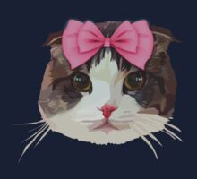 Pink Bow Cat Baby Tee