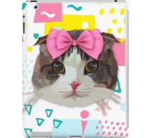 Pink Bow Cat iPad Case/Skin