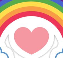 80's Heart & Rainbow Sticker