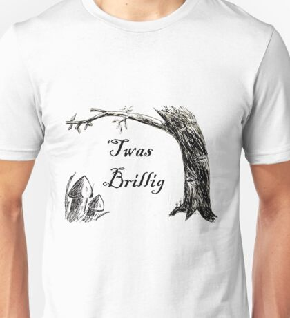 Twas Brillig Jabberwocky Alice in Wonderland Quote Poem Unisex T-Shirt