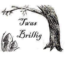 Twas Brillig Jabberwocky Alice in Wonderland Quote Poem Photographic Print
