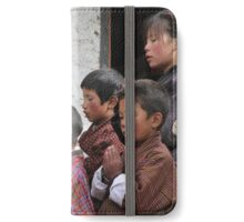 Buthanese pupils and teacher iPhone Wallet/Case/Skin