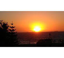 Cottesloe Beach at sunset...Western Australia. Photographic Print
